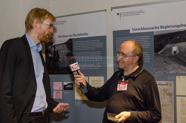 Interview mit Dr. Henrik Bispinck - Wissenschaftlicher Mitarbeiter der Stasi-Unterlagen-Behörde © dokfoto.de/Friedhelm Herr