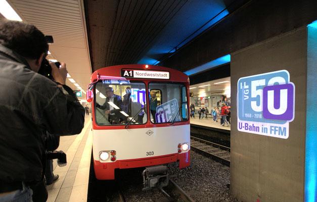 50 Jahre U-Bahn Frankfurt © Klaus Leitzbach/FRANKFUR MEDIEN.net