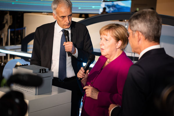 Presserundgang mit Bundeskanzlerin Angela Merkel © Fpics.de/Friedhelm Herr