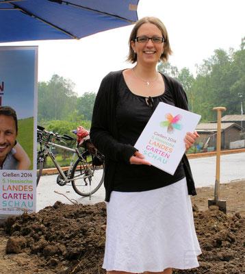 Beatrix Bauer Pressesprecherin der Landesgartenschau Gießen © FRANKFURT MEDIEN.net