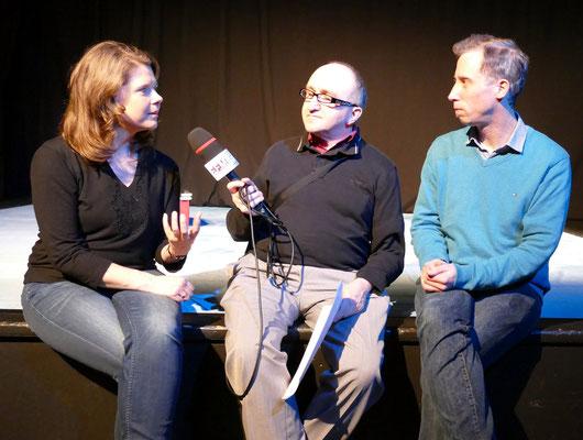 Interview mit Schauspieler Susanne Lammertz und Jan Schuba © Mary Pins/FRANKFURT MEDIEN.net