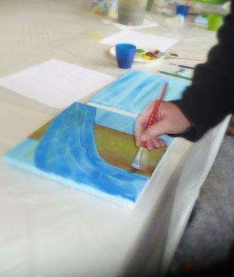 Kunststunden-Marion-Haas-Maltherapie-Kunsttherapie-Rheingau-Malevents- Gemeinschaftsbild-malen-Malworkshops-Malen-in-der-Gruppe-Erwachsenenbildung-Seminare-kreativ-gestalten-