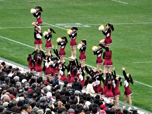 例年以上にチームワークの良い早稲田応援部、今日もノーミス