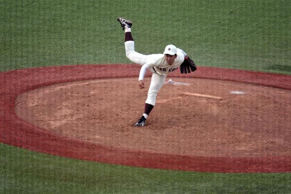 初日勝利のクローザー、徳山投手