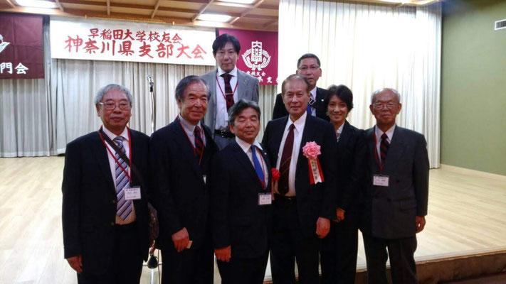鎌田総長と記念撮影