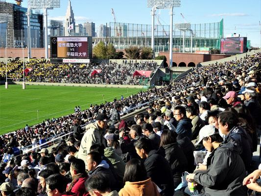 対抗戦優勝を左右する試合に押し掛けた約2万の観衆