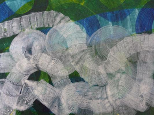 Vermutung, Tusche auf Papier, 68 x 104 cm