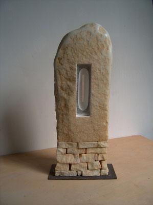 Altarino - 2009 - Marmo statuario, onice e colore