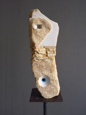 Altarino doppio- 2009 - Marmo statuario, onice e colore
