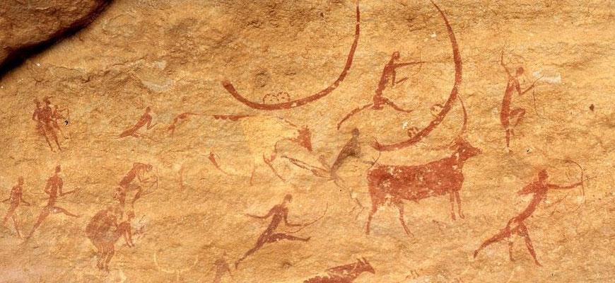 Höhlenmalerei Tassili - pinterest.de