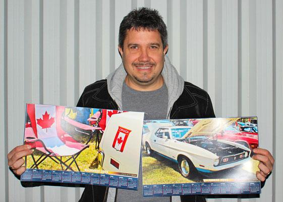 Eric Shink, propriétaire d'une Mustang coupé Sprint 1972 édition canadienne