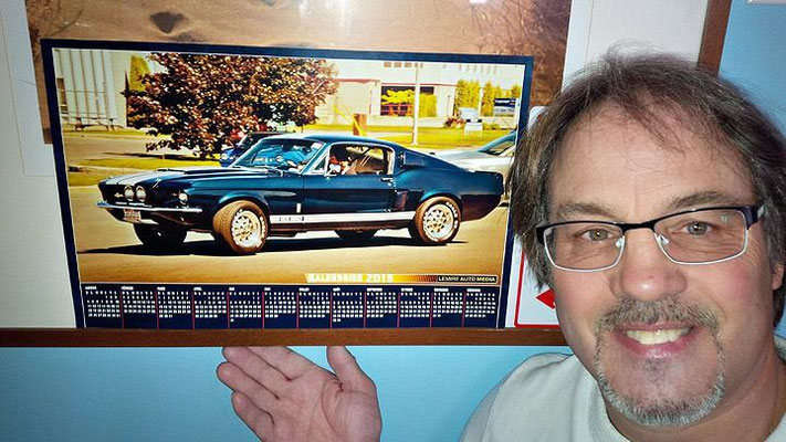 François Fontaine, propriétaire d'une Shelby GT350 1967