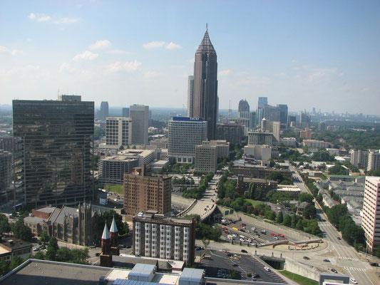 Fensterblick auf Downtown Atlanta