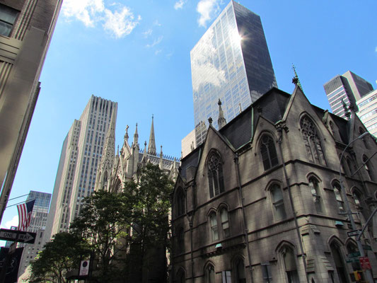 Rückseite der St. Patrick's Cathedral