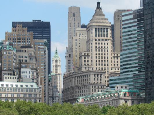 Hochhäuser hinter dem Battery Park