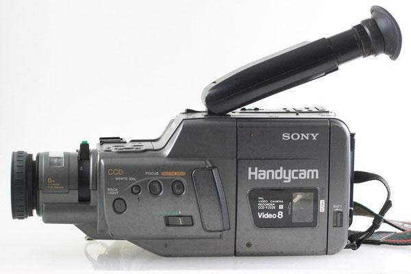 Videofilmen kam in Mode, ein CCD Camcorder