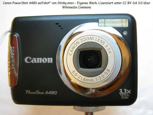 Eine Canon Powershot A 480, die Lieblingskamera meiner Frau