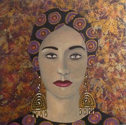 """Marrakesh VI - Ezmeralda"" (2015), Acrylic on wood, 40 x 40 cm"