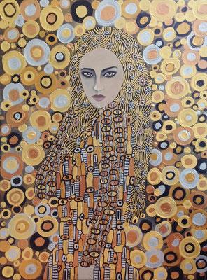 """""""Zeraphina"""" (2015), Acrylic on wood, 80 x 60 cm"""