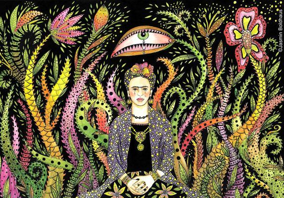 """Brave Frida Kahlo"" (2020), 29,7 x 42,0 cm"