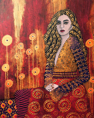 """Daeva"" (2016), Acrylic on wood, 40 x 50 cm"