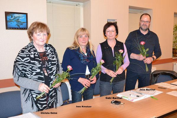 neu gewählter Vorstand (Wilma Wischeropp war verhindert)