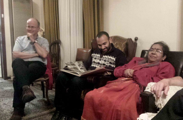 ( L-R ) Dave Dickens, Veerendra & Nagamani Rangisetty