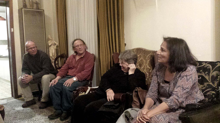 (L-R) David, Jim, Cynthia and Amrit