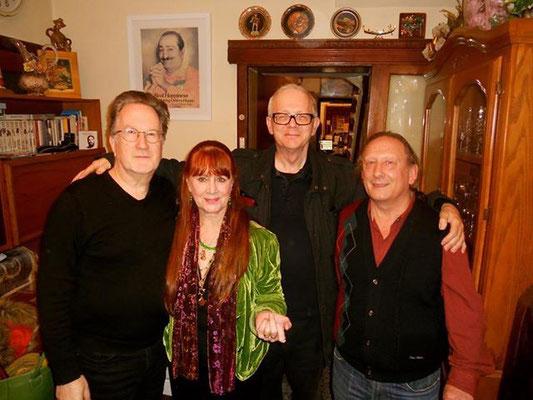 ( L-R ) Robert Lloyd, Raine, David Pepperell & Jim Miskia