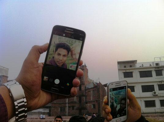 Fotografiert werden im Lalbagh Fort, Dhaka...