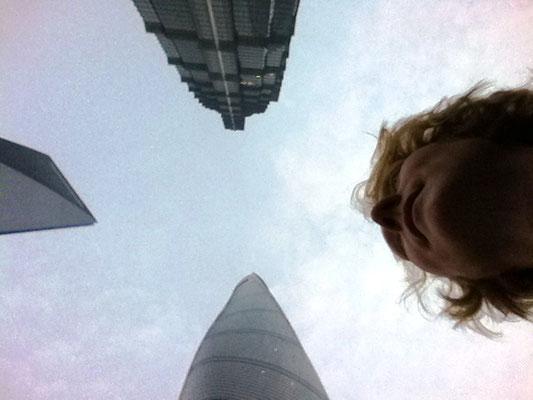 Drei Hochhäuser in Pudong