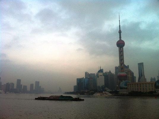 Blick auf den Stadtteil Pudong vom Bund, Shanghai