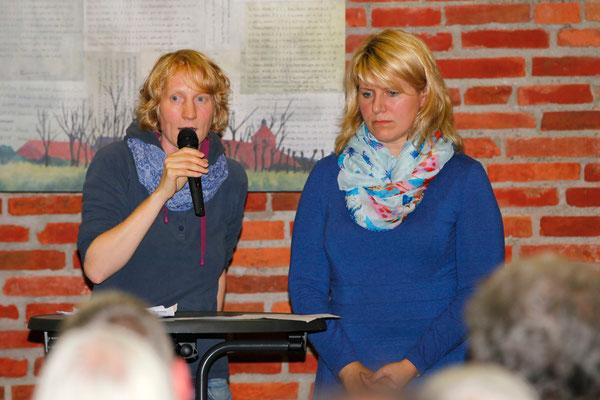 Iluta Larsena aus Lettland bei der Gedenkveranstaltung 2014 in Engerhafe. Iluta ist die Enkelin von Karlis Helfers, der 1944 im Außenlager KZ Engerhafe umgebracht wurde.