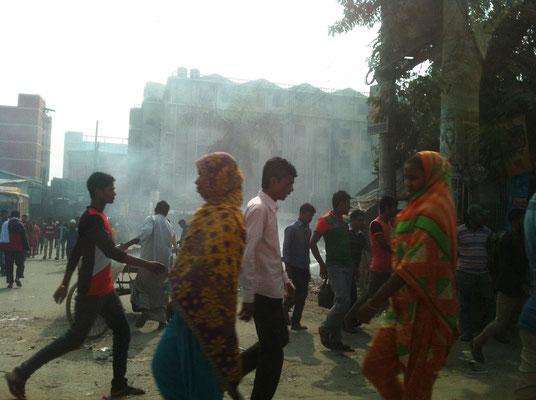 Im Industriegebiet von Narayanganj nördlich von Dhaka, in dem sich hunderte von Kleidungsfabriken befinden.