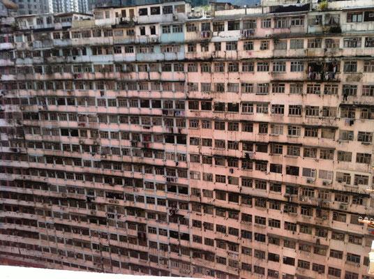 Blick aus meiner Unterkunft in Quarry Bay, Hongkong