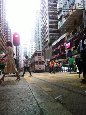 Straßenszene in Causeway Bay, Hongkong