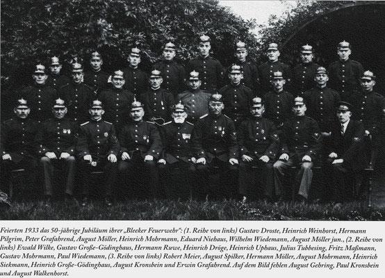 Bleeker Feuerwehr 1933