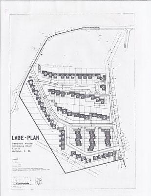 Lageplan des Siedlungsgebietes