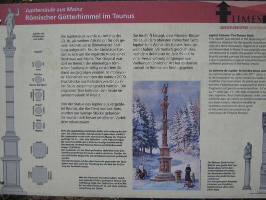 Infos zur Jupitersäule am Weltkulturerbe römischer Limes