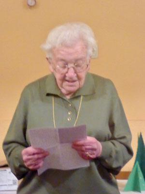 Letzte Ansprache von Frau Steinhäußer im Jahr 2017