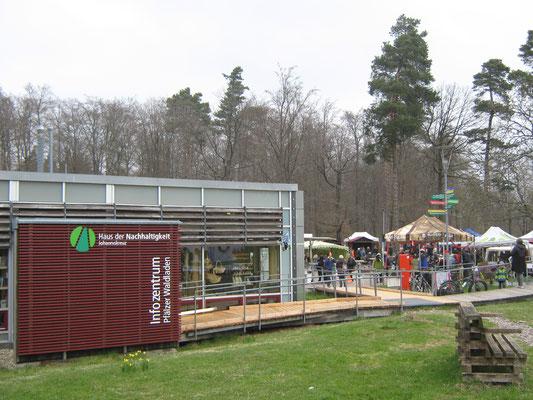 Am Haus der Nachhaltigkeit war an diesem Tag viel Betrieb, es wurde eine Pflanzentauschbörse veranstaltet.