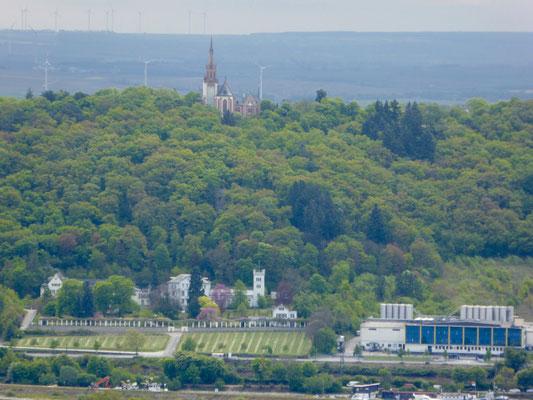 die Rochuskapelle auf der Binger Seite