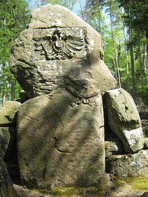 Der Schwedenstein unterhalb des Schänzelturms. Hier kämpften die Schweden im Dreißigjährigen Krieg.