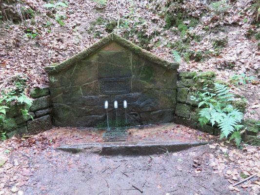 Der Kohlbrunnen. Hier musste ein erschöpfter Wanderfreund abgeholt werden. Dank an die Dackenheimer Feuerwehr für den Hilfseinsatz.