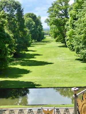 Blick vom Apollotempel Richtung des Englischen Gartens