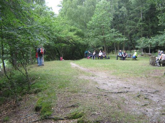kleine Pause am Försterwiesenweiher