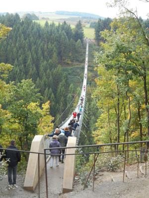 Die berühmte Geierlay-Hängebrücke