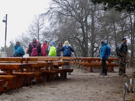 Auf der Kalmit, dem höchsten Berg des Pfälzerwaldes, an diesem Tag ohne die großartige Aussicht über die Rheinebene.