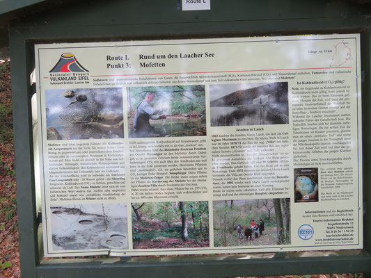 Die Mofetten sind interessante Kohlensäure-Austritte am Rande des Laacher Sees