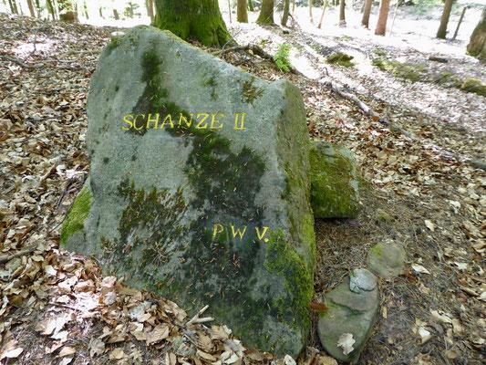 An den Schanzen des französisch-österreichischen Kriegs 1794-1796 sind Rittersteine aufgestellt worden
